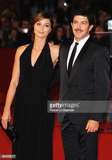 Actor Pierfrancesco Favino and Anna Ferzetti arrive at the L'Uomo Che Ama Premiere during the 3rd Rome International Film Festival held at the...
