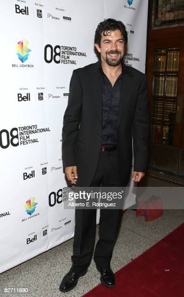 Actor Pierfrancesco Favino arrives at the Miracle At St Anna premiere during 2008 Toronto International Film Festival held at The Visa Screening Room...