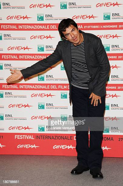 Actor Pierfrancesco Favino attends the L' Industriale Photocall during the 6th International Rome Film Festival at Auditorium Parco Della Musica on...