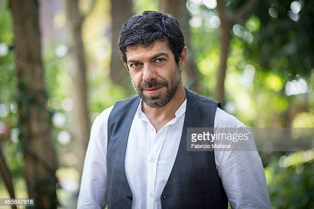 Actor Pierfrancesco Favino is photographed for Self Assignment on August 31 2014 in Venice Italy