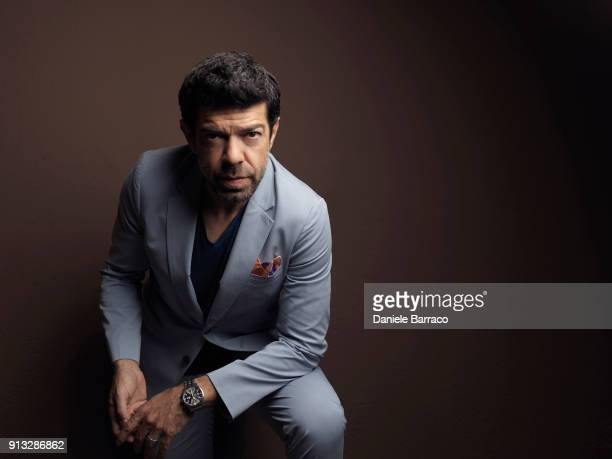 Actor Pierfrancesco Favino is photographed for Self Assignment on March 2017 in Milan Italy