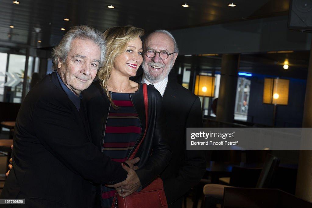 Actor Pierre Arditi, actress Julie Ferrier and actor Jean-Pierre Marielle attend the premiere of 'La Fleur De L'Age' at UGC Cine Cite Bercy on April 29, 2013 in Paris, France.