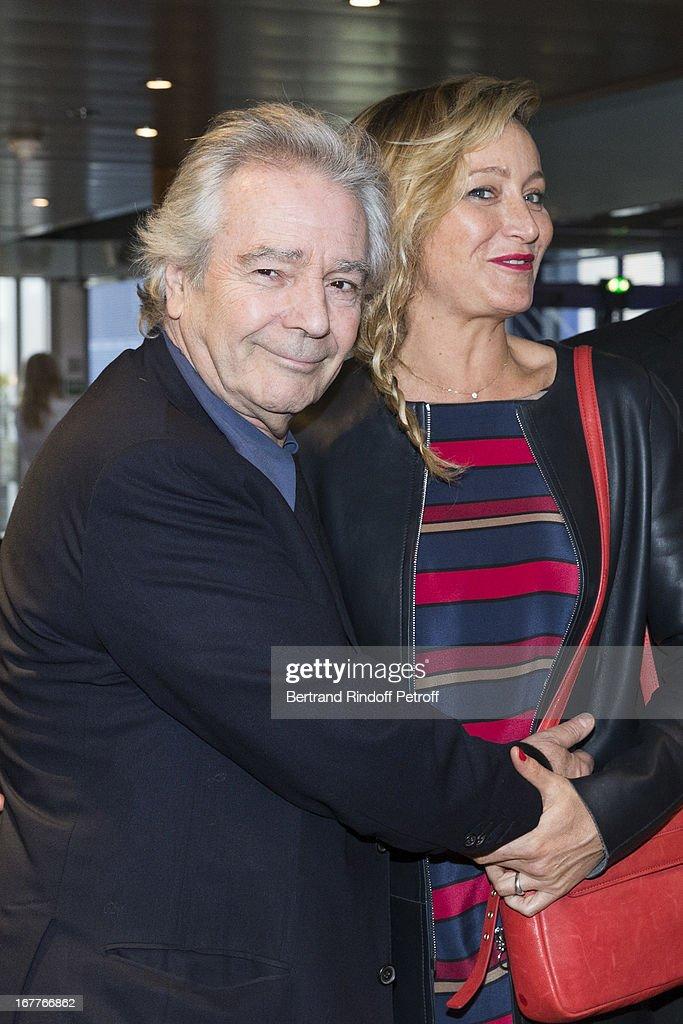 Actor Pierre Arditi (L) and actress Julie Ferrier attend the premiere of Nick Quinn's movie 'La Fleur De L'Age' at UGC Cine Cite Bercy on April 29, 2013 in Paris, France.
