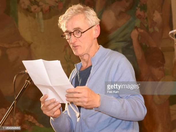 Actor Pierre Aussedat reads a poem during the Poesie En Liberté 2019 Awards Ceremony At Mairie Du 5eme on November 23 2019 in Paris France
