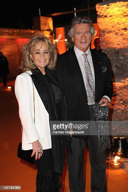 Actor Pierre Brice and his wife Hella attend the 20 Years Kabel1 celebration at the Kesselhaus on February 29 2012 in Munich Germany