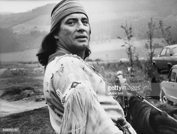 Actor Pierre Brice in the costume of Winnetou in Elspe