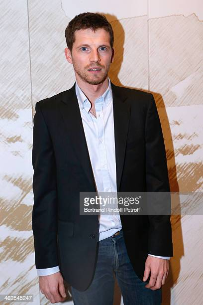Actor Pierre Deladonchamps at the Chaumet's Cocktail Party for Cesar's Revelations 2014 at Musee Chaumet followed by a dinner at Hotel Meurice on...