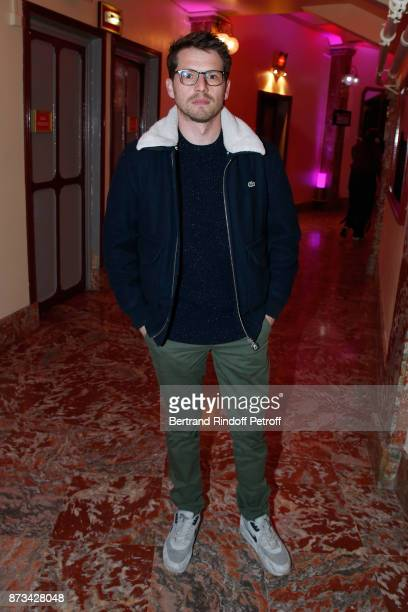 Actor Pierre Deladonchamps attends 'Depardieu Chante Barbara' at 'Le Cirque D'Hiver' on November 10 2017 in Paris France