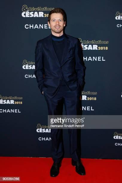 Actor Pierre Deladonchamps attends the 'Cesar Revelations 2018' Party at Le Petit Palais on January 15 2018 in Paris France