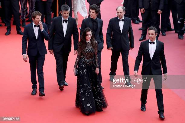 Actor Pierre Deladonchamps director Christophe Honore actress Adele Wismes actor Vincent Lacoste and actor Denis Podalydes attends the screening of...