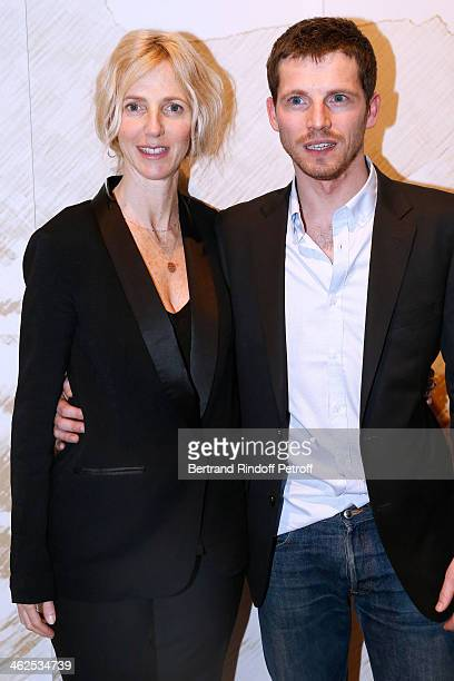 Actor Pierre Deladonchamps sponsored by Sandrine Kiberlain at the Chaumet's Cocktail Party for Cesar's Revelations 2014 at Musee Chaumet followed by...