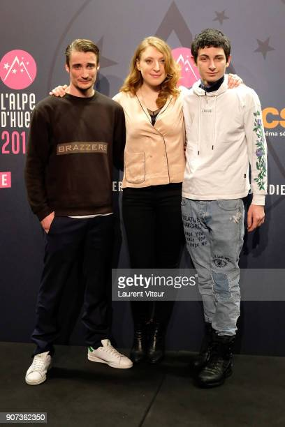 Actor Pierre Lotin Actress Sarah Stern and Actor Theo Fernadez attend 'Les Tuches 3 Liberte Egalite FraterniTuche' Premiere during the 21st Alpe...