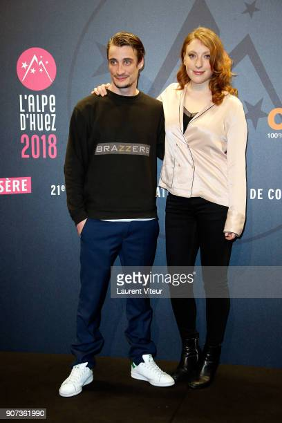 Actor Pierre Lotin and Actress Sarah Stern attend 'Les Tuches 3 Liberte Egalite FraterniTuche' Premiere during the 21st Alpe D'Huez Comedy Film...