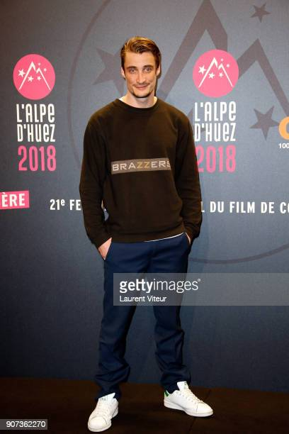 Actor Pierre Lotin attends 'Les Tuches 3 Liberte Egalite FraterniTuche' Premiere during the 21st Alpe D'Huez Comedy Film Festival on January 19 2018...