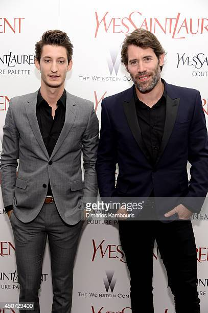 Actor Pierre Niney and director Jalil Lespert attend The Weinstein Company's Yves Saint Laurent premiere hosted by Yves Saint Laurent Couture Palette...