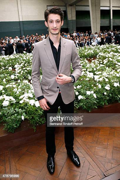 Actor Pierre Niney attends the Dior Homme Menswear Spring/Summer 2016 show as part of Paris Fashion Week on June 27 2015 in Paris France