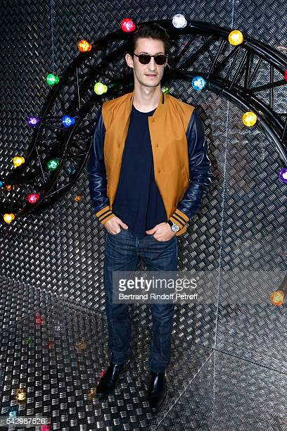 Actor Pierre Niney attends the Dior Homme Menswear Spring/Summer 2017 show as part of Paris Fashion Week on June 25 2016 in Paris France