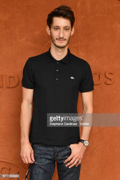 Actor Pierre Niney attends the Men Final of the 2018 French Open Day Fithteen at Roland Garros on June 10 2018 in Paris France