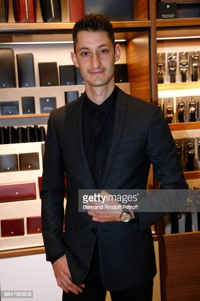 Actor Pierre Niney attends the Montblanc ChampsElysees Flagship Reopening on May 18 2017 in Paris France