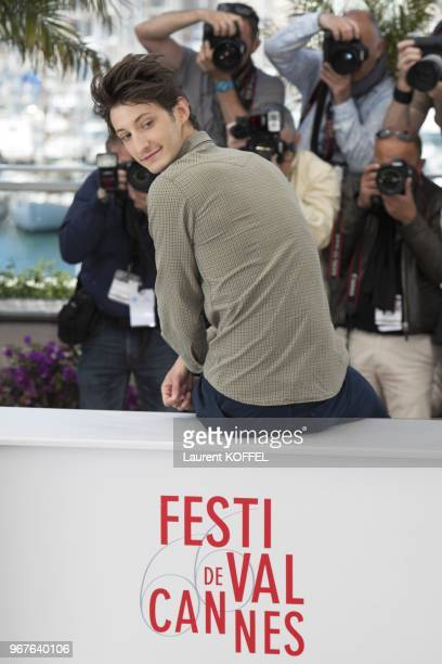 Actor Pierre Niney attends the photocall for 'Jeunes Talents Adami' during the 66th Annual Cannes Film Festival at the Palais des Festivals on May 20...