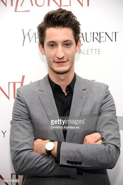 Actor Pierre Niney attends The Weinstein Company's Yves Saint Laurent premiere hosted by Yves Saint Laurent Couture Palette The Cinema Society at...