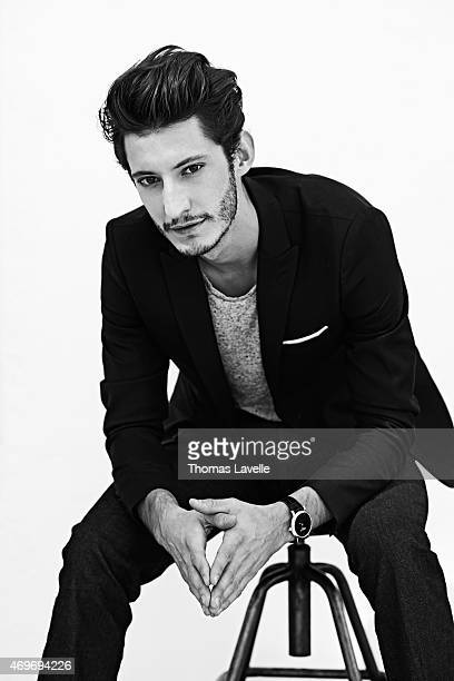 Actor Pierre Niney is photographed for Self Assignment on August 21 2014 in Paris France