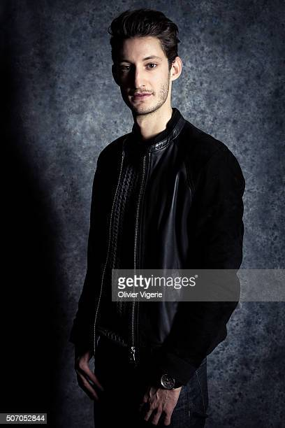 Actor Pierre Niney is photographed for Self Assignment on January 13, 2016 in Alpe d'Huez, France.