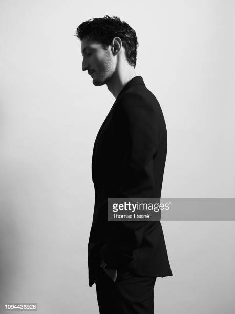 Actor Pierre Niney poses for a portrait on October 2018 in Paris France