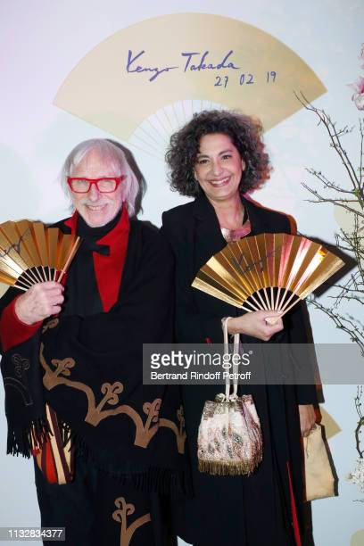 Actor Pierre Richard and his wife Ceyla Lacerda attend the 80th Kenzo Takada Birthday Party at Pavillon Ledoyen on February 28 2019 in Paris France