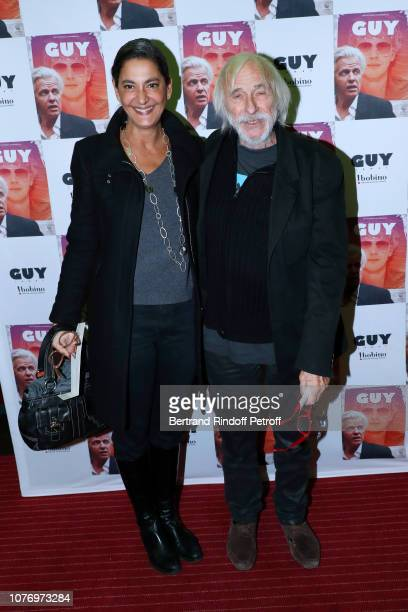 Actor Pierre Richard and his wife Ceyla Lacerda attend the Alex Lutz's concert with the Group of singer Guy Jamet which he played in the movie Guy at...