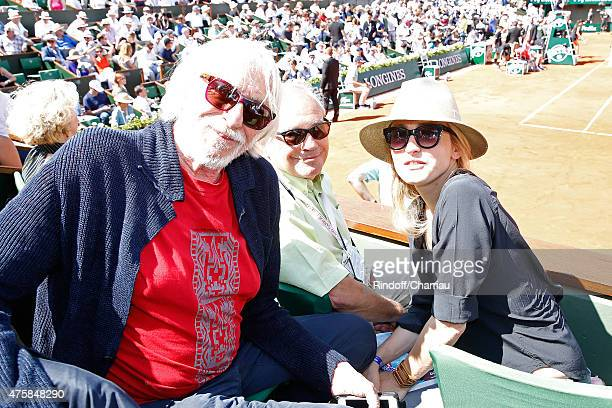 Actor Pierre Richard, Managing editor and publishing of 'Tennis Magazine', Jean Couvercelle and Actress Julie Gayet attend the 2015 Roland Garros...