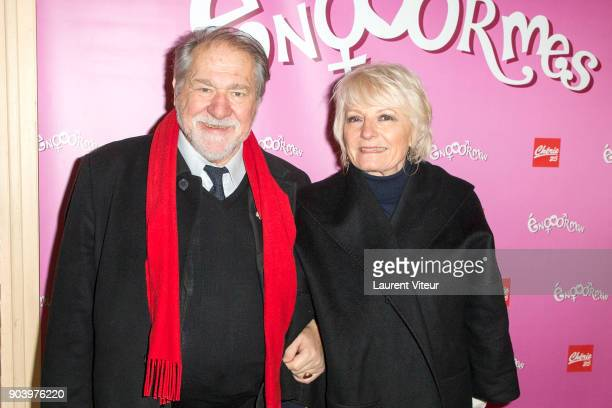 Actor Pierre Santini and his wife attend 'Enooormes' Paris Premiere at Theater Trevise on January 12 2018 in Paris France