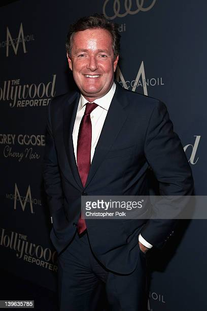 "Actor Piers Morgan arrives at The Hollywood Reporter's ""Nominees' Night 2012"" A Celebration of the 84th Annual Academy Awards at the Getty House on..."