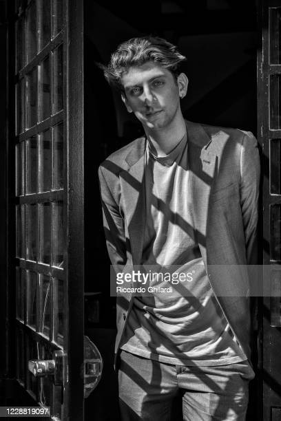 Actor Pietro Castellitto poses for a portrait during the 77th Venice Film Festival on September 2020 in Venice Italy