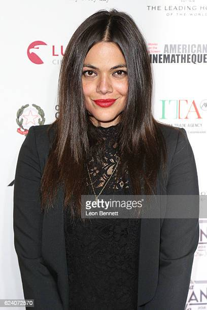 Actor Pina Turco arrives at A Conversation with Gianfranco Rosi and Screening of 'Fire At Sea' during AFI FEST 2016 presented by Audi at the Egyptian...