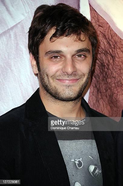 "Actor Pio Marmai attends ""Un Heureux Evenement"" premiere at UGC Cine Cite Bercy on September 26, 2011 in Paris, France."