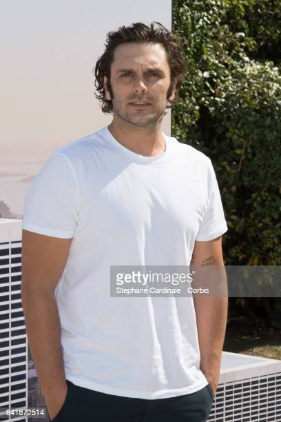 Actor Pio Marmai poses during the 'Revelation Jury' photocall as part of the 43rd Deauville American Film Festival on September 2 2017 in Deauville...