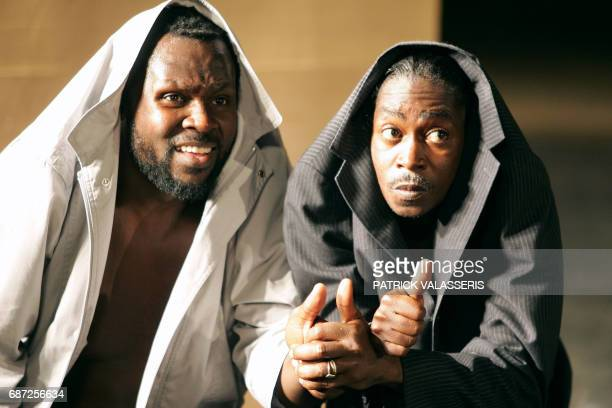 Actor Pitcho Womba Konga from Congo creator and promoter of hip hop culture and actor and writer Habib Dembele from Mali perform in 'Sizwe Banzi est...