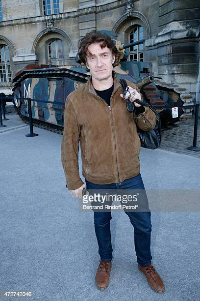 Actor playing the role of Jean Moulin Thierry Fremont attends the 'Ami entends tu ' Show performed at The Invalides on May 8 2015 in Paris France