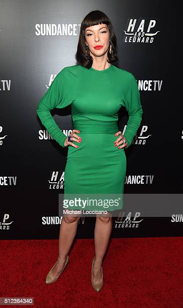 Actor Pollyanna McIntosh attends SundanceTV's 'Hap and Leonard' Premiere Party at Hill Country Barbecue Market on February 25 2016 in New York City