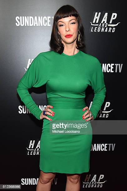 Actor Pollyanna McIntosh attends SundanceTV's Hap and Leonard Premiere Party at Hill Country Barbecue Market on February 25 2016 in New York City
