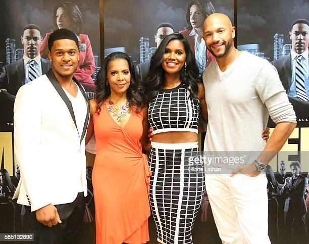 Actor Pooch Hall Actress Penny Johnson Jerald Actress Denise Boutte and Actor Stephen Bishop arrive at The Beverly Hilton Hotel on August 1 2016 in...