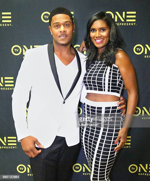 Actor Pooch Hall and Actress Denise Boutte arrive at The Beverly Hilton Hotel on August 1 2016 in Beverly Hills California