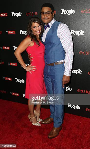 Actor Pooch Hall and his wife attend People's Ones To Watch Event at The Line on October 9 2014 in Los Angeles California