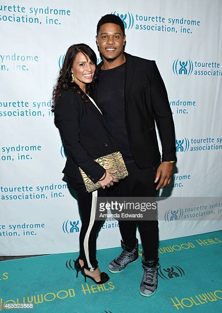 Actor Pooch Hall and his wife Linda Hall arrive at the 2nd Annual Hollywood Heals Spotlight On Tourette Syndrome event at the House of Blues Sunset...