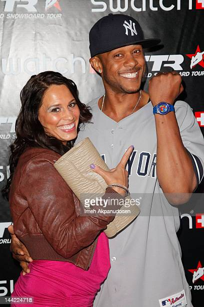 Actor Pooch Hall and his wife Linda Hall attend the Swatch Art Rules Event at Royal/T Gallery on May 11 2012 in Culver City California