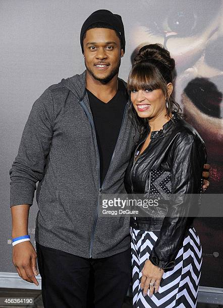 Actor Pooch Hall and wife Linda Hall arrive at the Los Angeles Special Screening Of New Line Cinema's Annabelle at TCL Chinese Theatre on September...
