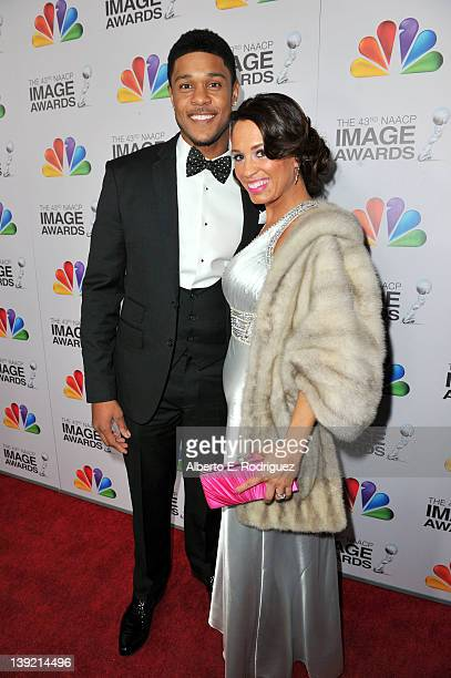 Actor Pooch Hall and wife Linda Hall arrives at the 43rd NAACP Image Awards held at The Shrine Auditorium on February 17 2012 in Los Angeles...