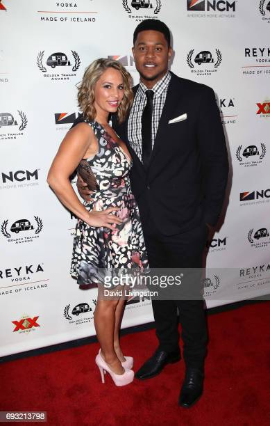 Actor Pooch Hall and wife Linda Hall attend the 18th Annual Golden Trailer Awards at the Saban Theatre on June 6 2017 in Beverly Hills California