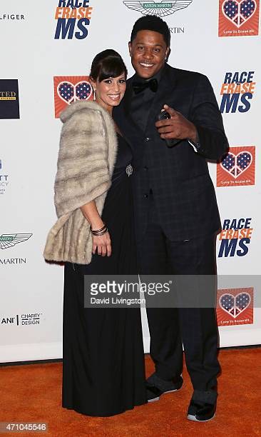 Actor Pooch Hall and wife Linda Hall attend the 22nd Annual Race to Erase MS event at the Hyatt Regency Century Plaza on April 24 2015 in Century...